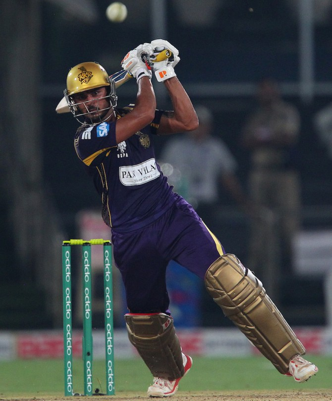 Pandey hammered five boundaries and five sixes during his innings of 76