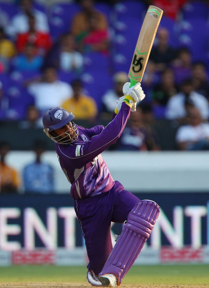 Malik walloped four boundaries and four sixes during his knock of 66