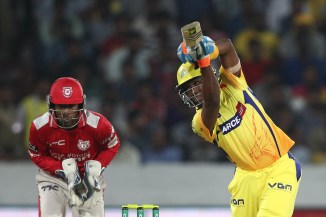 Bravo walloped seven boundaries and three sixes during his game-winning knock of 67