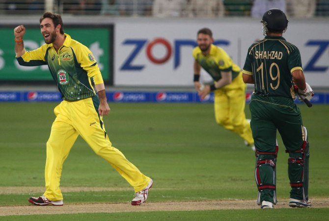 Maxwell recorded  career-best figures of 3-13 off his three overs