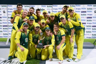 Australia celebrate after whitewashing Pakistan 3-0