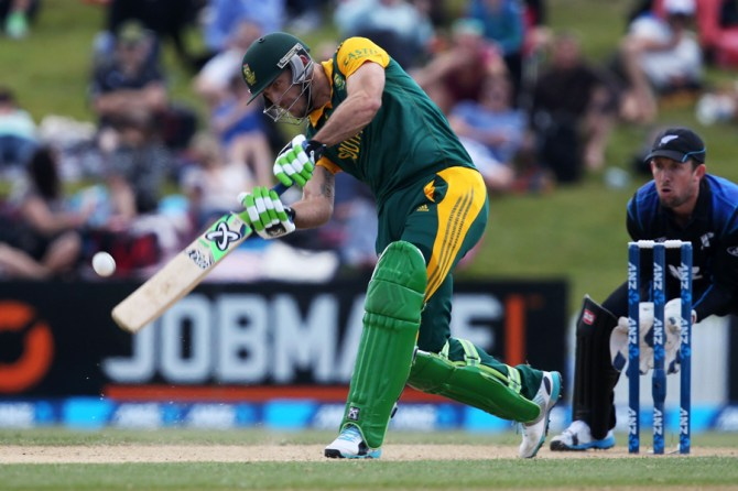 Du Plessis struck three boundaries and two sixes during his knock of 67
