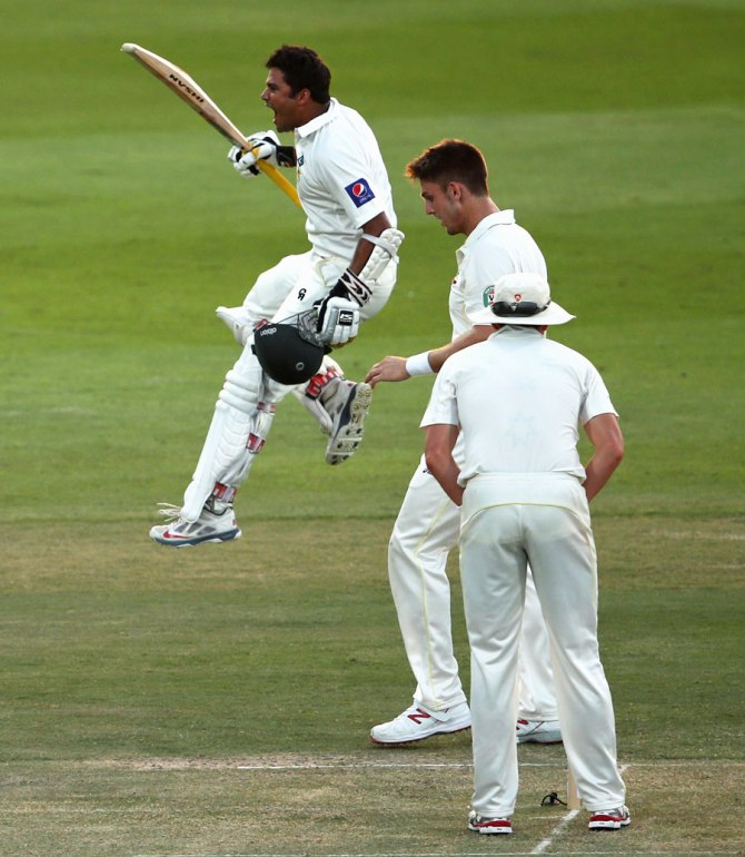 Ali is ecstatic after bringing up his sixth Test century