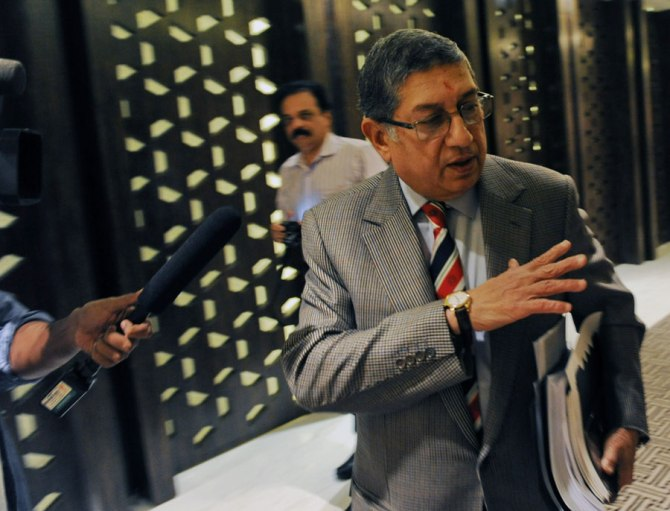 Srinivasan was forced to step down as BCCI president due to the investigation