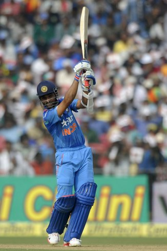 Rahane was named Man of the Match for his career-best knock of 111