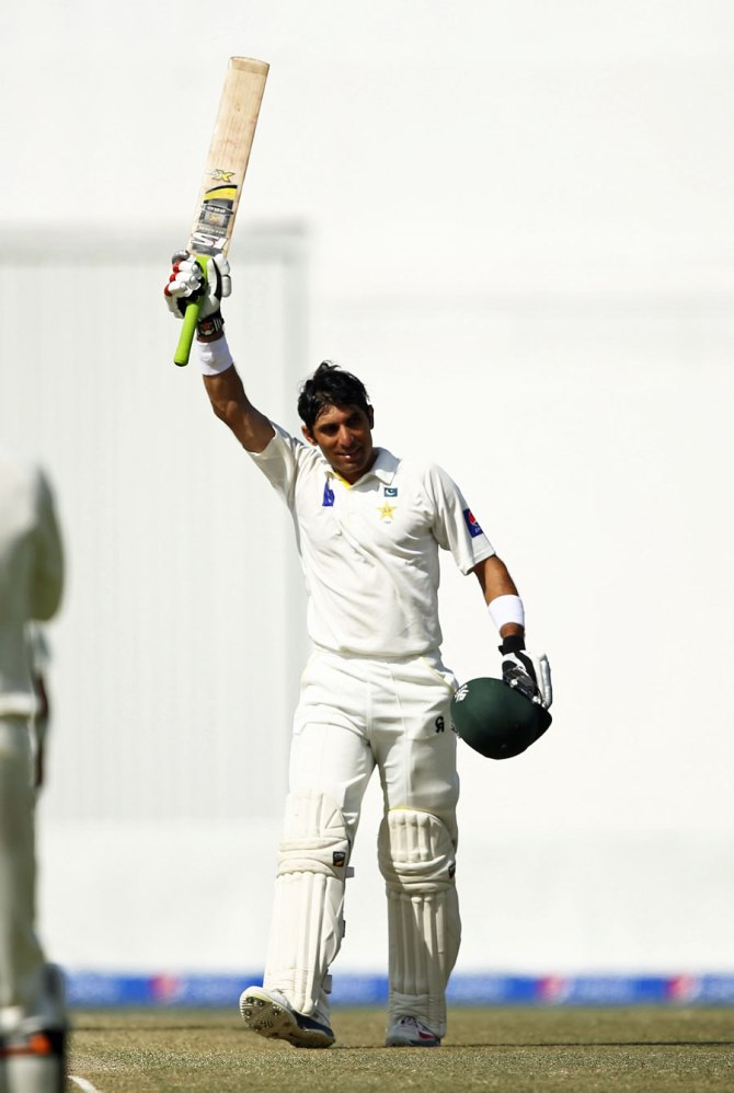 During his innings, ul-Haq scored the fastest half-century in Test history and equalled the record for the quickest century as well