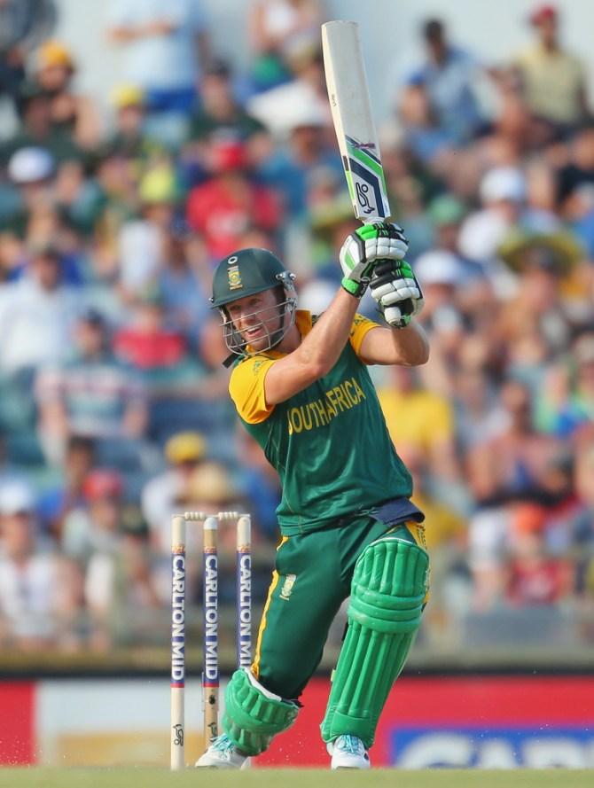 De Villiers hit eight boundaries during his knock of 48