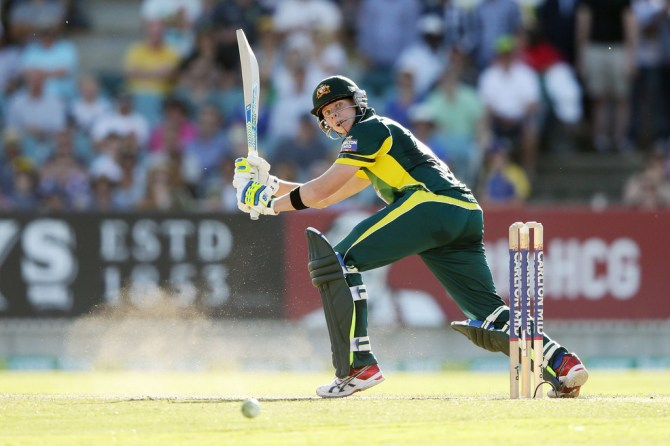 Smith hammered eight boundaries during his dazzling knock of 73