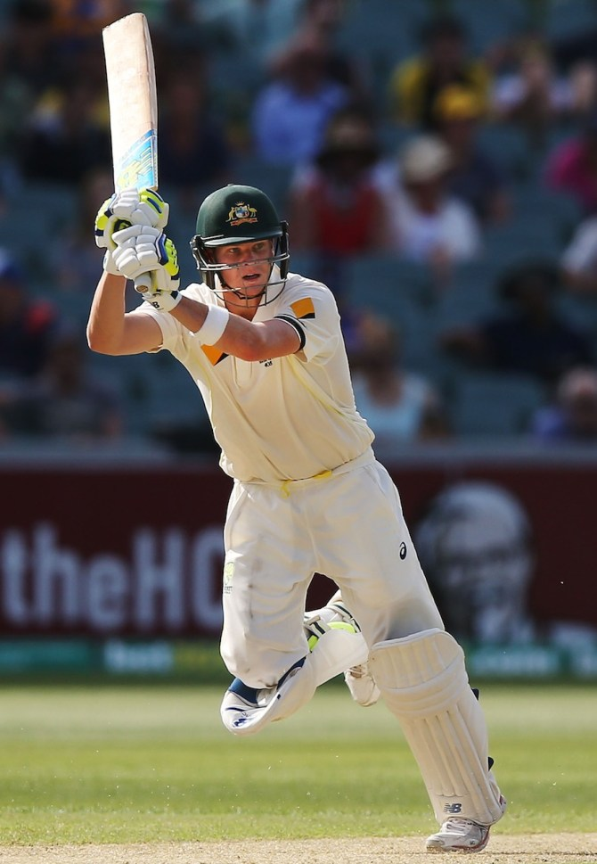 Smith struck nine boundaries during his unbeaten knock of 72
