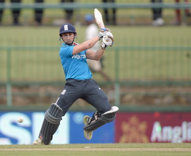 Taylor hit five boundaries and a six during his knock of 68