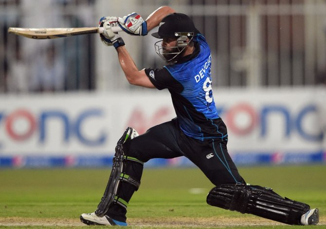 Devcich hit eight boundaries during his innings of 58