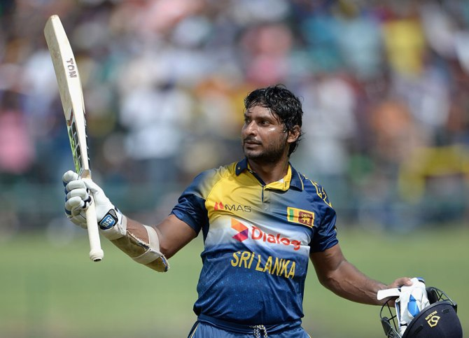 Sangakkara exchanged words with Oxenford on two separate occasions after he was not allowed to take the batting powerplay in the 34th over