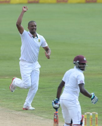 Philander picked up five wickets during the day