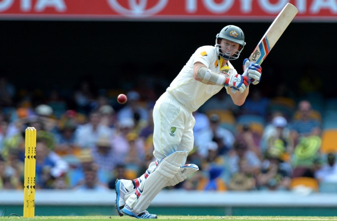 Rogers smashed 10 boundaries during his entertaining innings of 55
