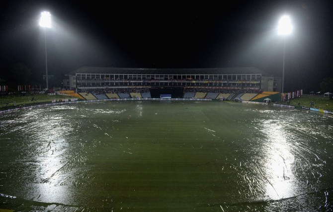 Heavy rain led to the game being abandoned after Sri Lanka's innings