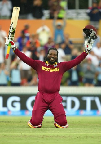 Gayle is all smiles after scoring his maiden ODI double century