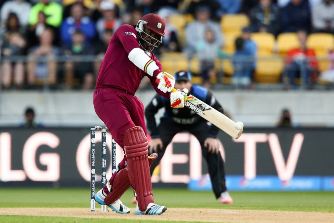 Gayle was the West Indies' top-scorer with 61 runs
