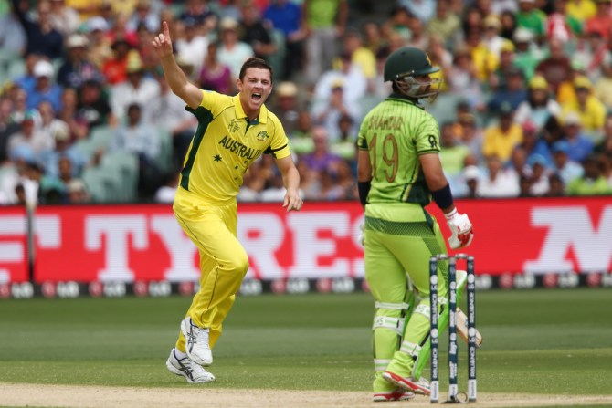 Hazlewood finished with figures of 4-35 off 10 overs
