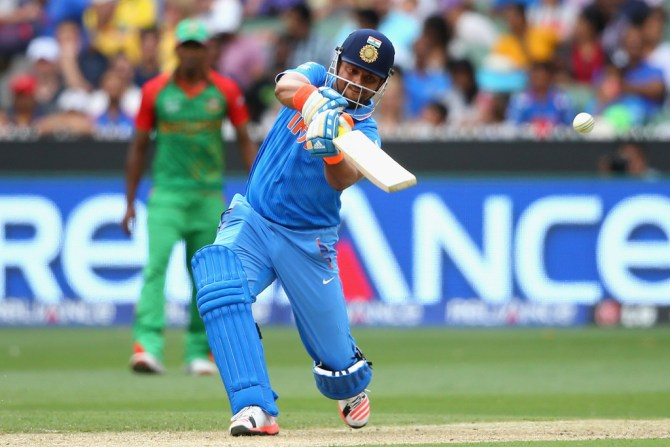 Raina smashed seven boundaries and a six during his innings of 65