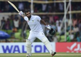 Iqbal celebrates after scoring his maiden double century