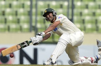 Khan played a plethora of scintillating strokes en route to his 29th Test century