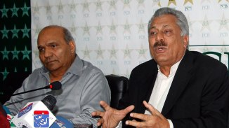 Abbas (right) has replaced Sethi as the PCB's choice for the ICC presidency