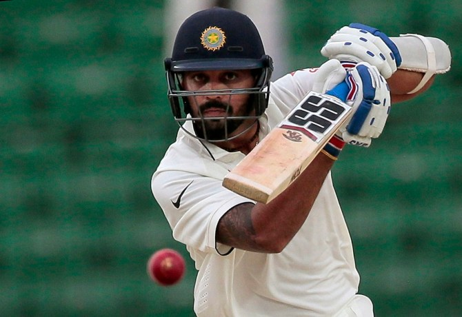 Vijay hit eight boundaries and a six during his unbeaten knock of 89