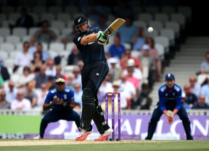 Guptill hit six boundaries and a six during his knock of 50