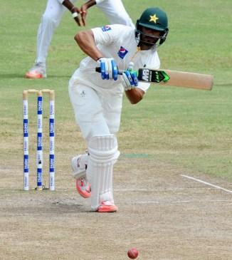 Masood scored his maiden Test century