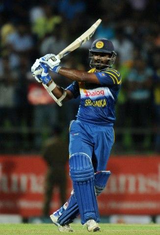 Perera equalled Sanath Jayasuriya's record for the fastest ODI half-century by a Sri Lankan batsman