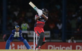 Bravo walloped four boundaries and seven sixes during his unbeaten knock of 80