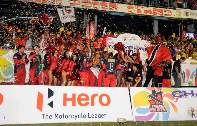 The Red Steel celebrate after winning the CPL