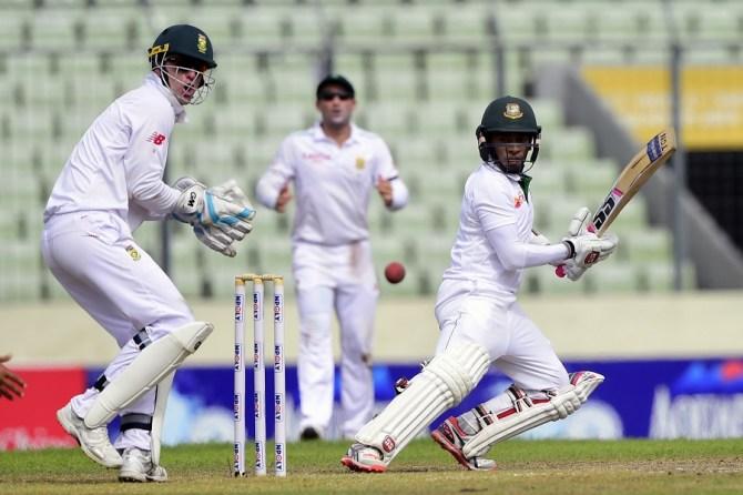 Rahim hit seven boundaries during his valiant knock of 65
