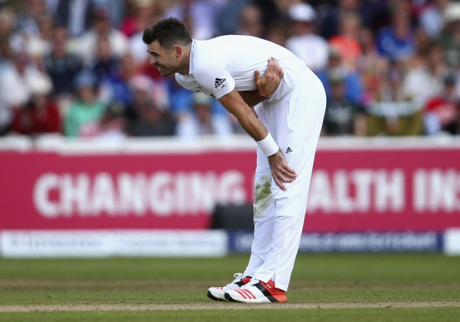 Anderson has picked up 10 wickets in the series at an average of 27.50