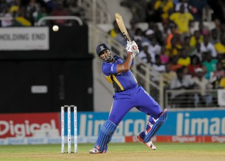 Pollard blasted five boundaries and three sixes during his knock of 59