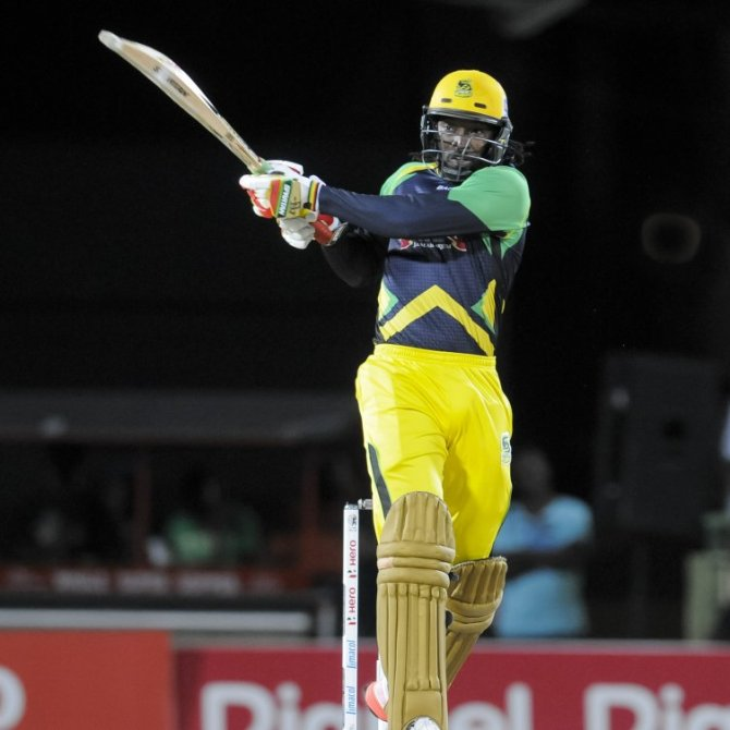 Gayle was named Man of the Match for his unbeaten knock of 72