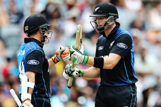 Latham (left) and Guptill (right) both scored centuries
