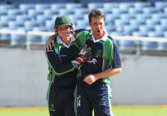 Murtagh (right) finished with figures of 4-32 off 10 overs