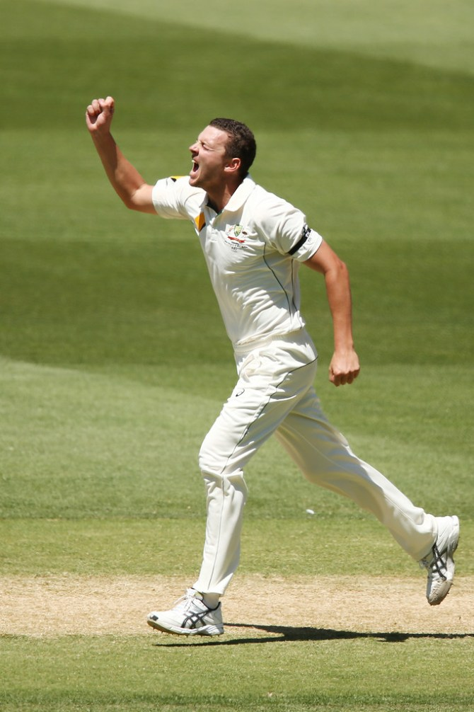 Hazlewood finished with career-best figures of 6-70 off 24.5 overs