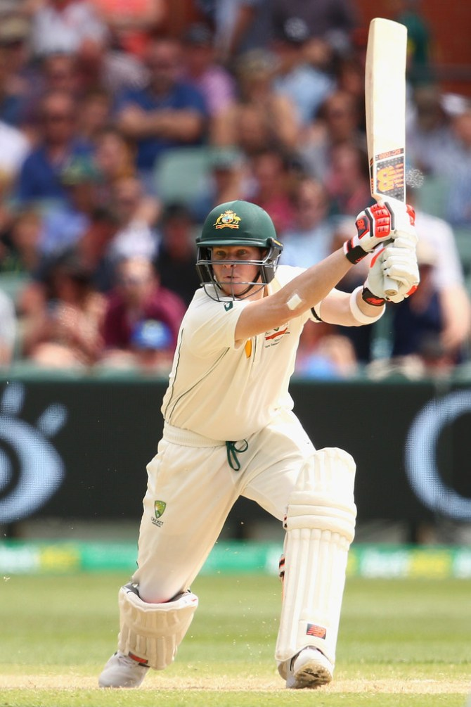 Smith scored his 13th Test fifty