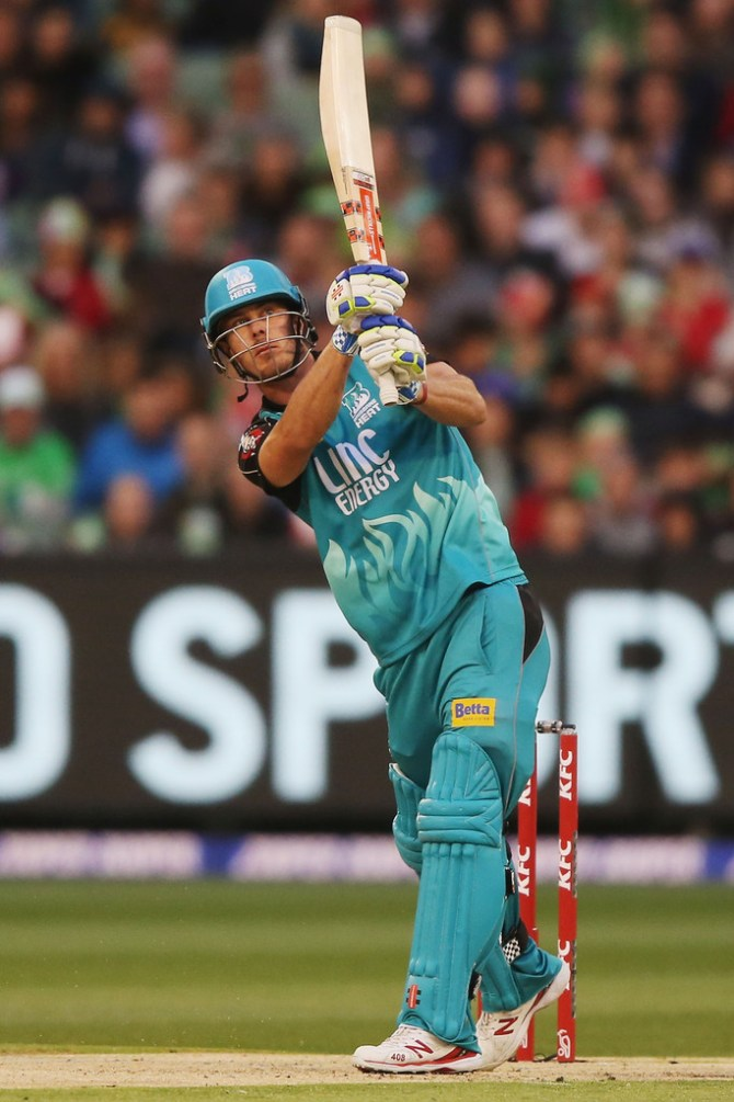 Lynn hit two boundaries and seven sixes during his innings of 56