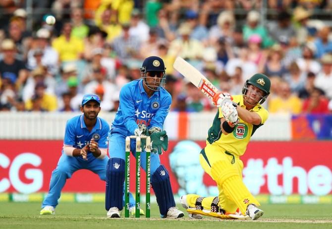 Warner fell seven runs short of his fifth ODI century