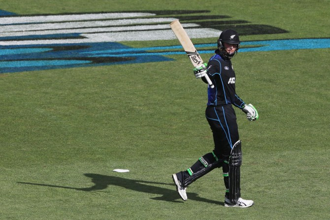 Guptill hit eight boundaries and three sixes during his knock of 82