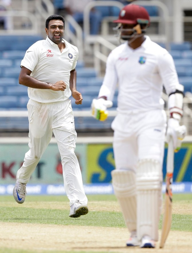 Ashwin finished with figures of 5-52 off 16 overs