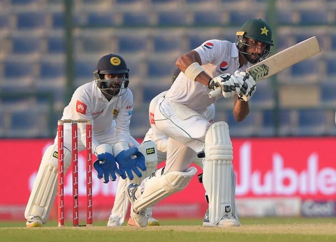 Shan Masood half-century Pakistan Sri Lanka cricket