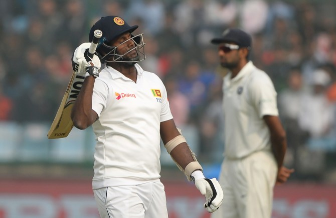 Angelo Mathews century Sri Lanka India cricket