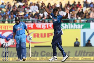 Suranga Lakmal four wickets Sri Lanka India cricket