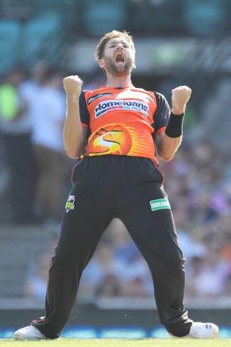 Andrew Tye hat-trick Perth Scorchers Sydney Sixers BBL cricket