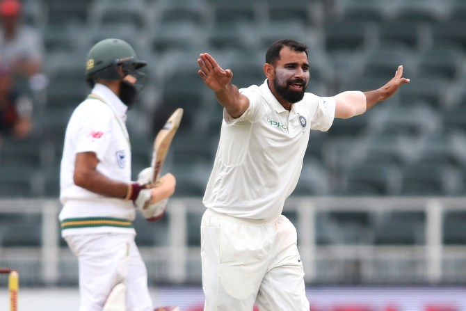 Mohammed Shami five wickets South Africa India 3rd Test 4th Day Johannesburg cricket