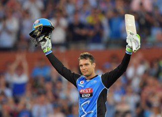 Alex Carey 100 Adelaide Strikers Hobart Hurricanes BBL cricket